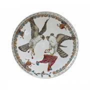 Большая настенная тарелка СОКОЛЫ от Gien, диаметр 61.5 см