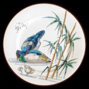 "Тарелка ""Птицы"" декоративная, Утка, жесть, эмаль AU BAIN MARIE ABM-AT-V02"