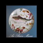 """Набор из 6 декоративных тарелок """"Речные рыбы"""", жесть, эмаль AU BAIN MARIE ABM-AT-PE1"""