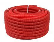 Труба STOUT гофрированная ПНД, цвет красный, наружным диаметром 20 мм для труб диаметром 14-18 мм отрезок