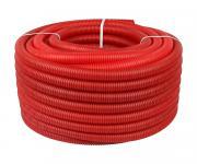 Труба STOUT гофрированная ПНД, цвет красный, наружным диаметром 20 мм для труб диаметром 14-18 мм отрезок \ 040м \