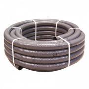 Шланг ПВХ MTS Produkte, 63 х 55 мм, цвет серый, бухта 25 м