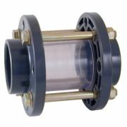 Стекло смотровое ПВХ, EPDM, SAN Cepex (клеевое), диаметр 90 мм, PN=10