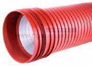 Труба канализационная PRAGMA ПП 200/176 мм SN8 гофрированная двустенная с раструбом и уплотнительным кольцом (отрезок - 6м)