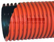 Труба дренажная 250/292 мм Политэк-3000 гофрированная двустенная с перфорацией (отрезок - 6м)