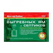 Биосостав Доктор Робик, для дачных туалетов, септиков, выгребных ям, 0.075 кг
