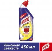 Средство дезинфицирующее для туалета Harpic Power Plus Лимонная свежесть 450мл