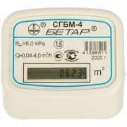 Счетчик газа с одной накидной гайкой бетар сгбм-4.0 бет.4.0-1гайка