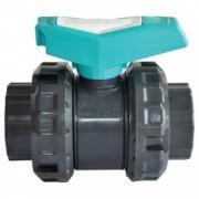 Кран шаровый ПВХ Gemas Fitvalf, д=110 мм (PN10, HDPE, EPDM) новая модель