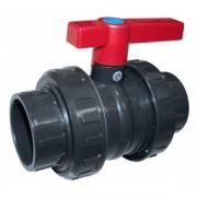 Кран шаровый 2-ходовый (клей-клей), 90 мм / Plimat