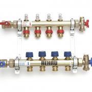Распределительный коллектор Rehau HKV-D с расходомерами на 12 контуров