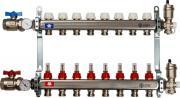 Коллектор Stout, в сборе с расходомерами, SMS-0907-000007, серый, 7 выходов