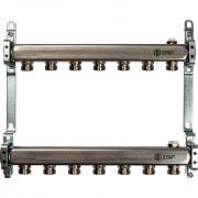Коллектор из нержавеющей стали для радиаторной разводки stout 7 выходов sms 0923 000007
