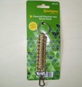 Брелок для ключей с карабином и кольцом (цвет комб. зеленый, черный)