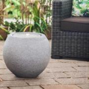 Фонтан интерьерный Heissner Ball LED с подсветкой, д=50х43 см, серый, искусственный камень