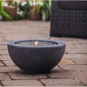 Фонтан интерьерный Heissner Half Ball LED с подсветкой, д=50х25 см, черный, искусственный камень