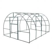 Каркас теплицы, 4 x 3 x 2 м, шаг 1 м, профиль 20 x 20 мм, толщина металла 1 мм, без поликарбоната, половинчатые арки