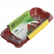 Мини-тепличка малая с торфяными таблетками 12 шт d-33
