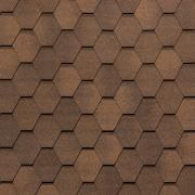 Гибкая черепица Tegola Нобил Тайл Вест Светло-коричневый