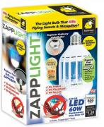 Светодиодная лампочка ловушка, от комаров и насекомых Zapp Light