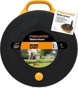 "Катушка для шланга ""Fiskars"", со шлангом и набором аксессуаров, диаметр 9 мм, длина 15 м"