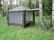 Шатер Митек Пикник 2,5х2,5 м со стенками (2 места) (беж/хаки)