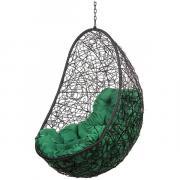 Кресло подвесное Bigarden ''Easy'' черное без стойки зеленая подушка EasyBSG 2229690689427