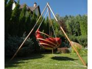 BestaFiesta Подвесное деревянное кресло качели с подушками - комплект МАЙЯ SET