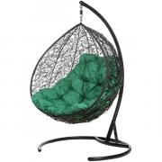 Кресло подвесное Bigarden ''Gemeni Promo'' черное зеленая подушка geminipromoG 2229690689946