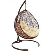 Подвесное кресло в виде капли bigarden tropica brown