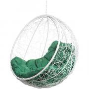 Кресло подвесное Bigarden ''Kokos'' белое без стойки зеленая подушка KokosWhiteBSG 2229690691758
