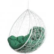 Кресло подвесное Bigarden ''Tropica'' белое без стойки зеленая подушка TropicaWhiteBSG 2229690750509