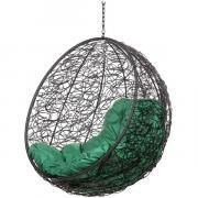 Кресло подвесное Bigarden ''Kokos'' черное без стойки зеленая подушка KokosBlackBSG 2229690748988