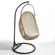 Кресло La Redoute Подвесное Swing единый размер бежевый