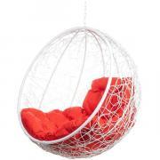 Кресло подвесное Bigarden ''Kokos'' белое без стойки красная подушка KokosWhiteBSR 2229690699822