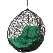 Кресло подвесное Bigarden ''Tropica'' черное без стойки зеленая подушка TropicaBlackBSG 2229690709439
