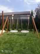 Качели садовые ХИТ с двумя качелями гнездо 100 см