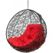 Кресло подвесное Bigarden ''Kokos'' черное без стойки красная подушка KokosBlackBSR 2229690728058