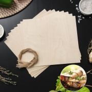 Гриль-бумага из древесины, 20x18 см, 8 шт/уп, клён