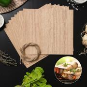 Гриль-бумага из древесины, 20x18 см, 8 шт/уп, дуб