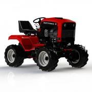Садовый трактор митракс на базовых агро или газонных колесах митракст150