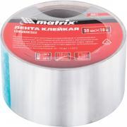 Лента клейкая Matrix 50 мм x 10 м алюминиевая (89071)