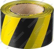 Лента оградительная «Эконом» (черно-желтая)