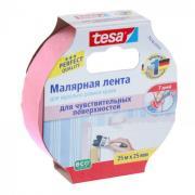 Лента малярная Tesa (розовая / 25 мм / 25 м)