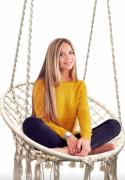 Кресло-гамак подвесное плетеное CoolWalk с подушкой