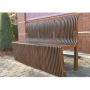 Скамья со спинкой Reexo Divano деревянная, влагостойкая, длина 100 см