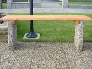 Бетонная скамейка МИНИ с фактурой