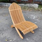 Шезлонг Reexo Spiaggina I, складной, деревянный, влагоустойчивый, 110 х 49 х 23 см, покрытие тёмное