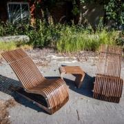 Шезлонг Reexo Spiaggina X деревянный, влагоустойчивый, 123 х 50 х 73 см, покрытие светлое
