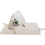 Набор Банные штучки 41084 (шапка, рукавица, коврик)